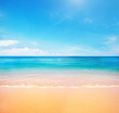 canvas print picture - beach and tropical sea