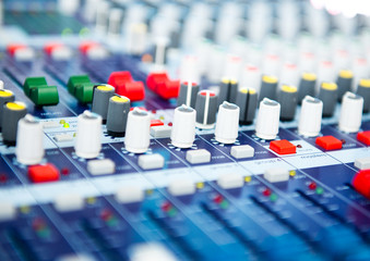 sound mixer control.
