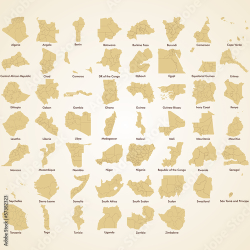 Africa maps, African Countries detailed