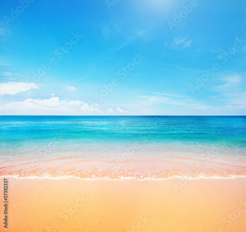 canvas print picture beach and tropical sea