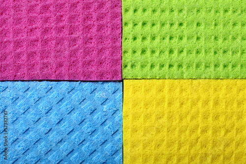 Colorful sponge foam as background texture