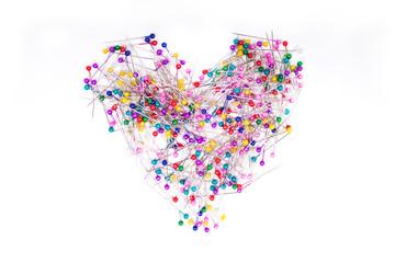цветные иглы сердце