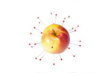 цветные иглы яблоко