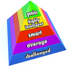 Genius Intelligence Level Pyramid Steps