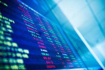 Display of Stock market