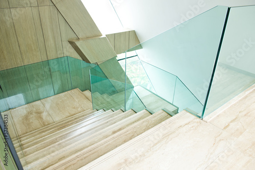 Poster Trappen marble stairs