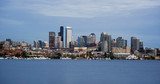 Seattle Skyline Downtown Office Building Nautical Transportation