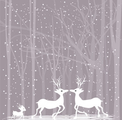 Reindeers in love