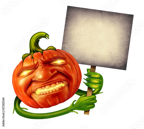 Halloween Pumpkin Head