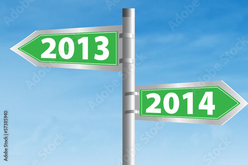 2013 and 2014 Road Sign