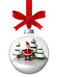 Christmas ornament with Santa