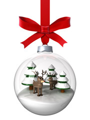 Christmas ornament with reindeer