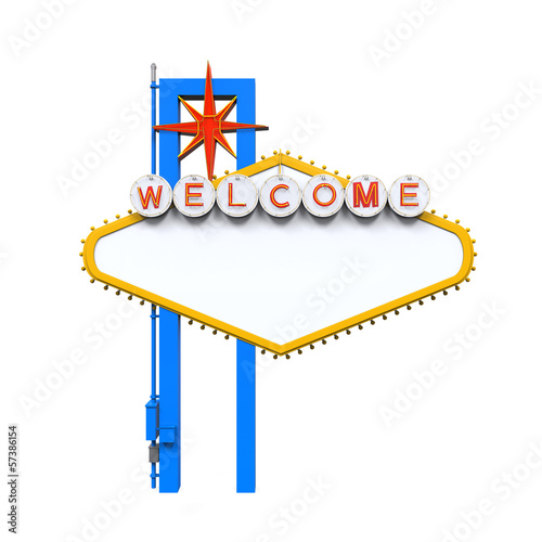 Fototapeta Blank Las Vegas Welcome Sign