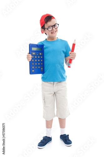 Nerd student excited about learning