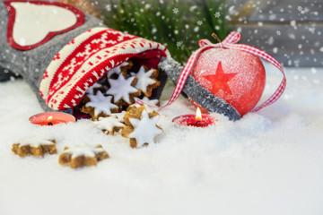 Weihnachtliche Naschereien mit Textfreiraum