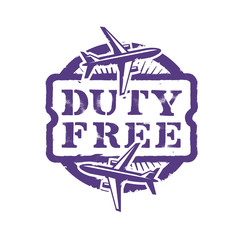 Duty Free. Vector format