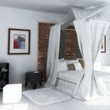 White Bedroom with Artwork