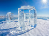 Icehange - stonehenge made from ice