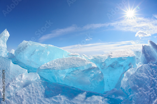 Plexiglas Antarctica 2 Winter Baikal lake