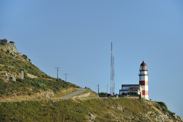 Silleiro cape, lighthouse in the mountain