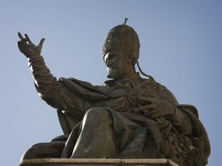 Monument to Pope Paul V in Rimini, Italy