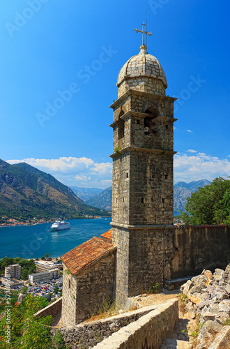 View of beautiful church in Kotor old town