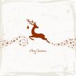 Reindeer, Christmas Ball & Stars Beige/Brown Scratches