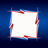 Abstract American, English and French frame flag