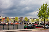 Cityscape of Amsterdam in the Netherlands