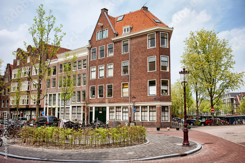 Traditional Apartment Houses in Amsterdam