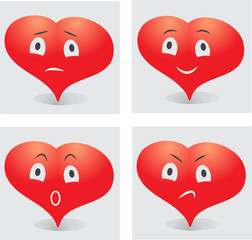 emotions of the heart smiley