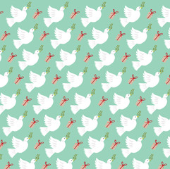 dove christmas pattern