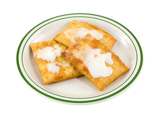 Toaster pastries with icing on a plate