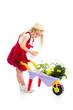 gardener kid watering tree