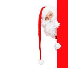 Santa Claus und seine lange rote Mütze