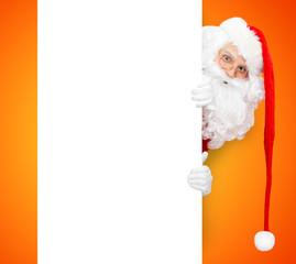 Santa Claus und schöner Hintergrund in orange