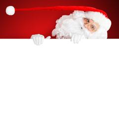 Weihnachtsmann in schönem rot