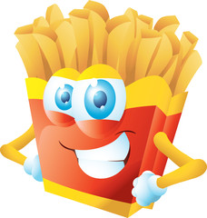 french fries cartoon grinning