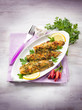 fish fillet with  hot chili pepper and parsley