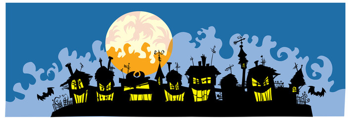 Scary town silhouettes.