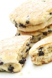 traditional welsh cakes on white