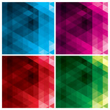 abstract triangle backgrounds