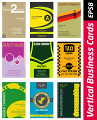 vertical business card set