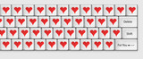 Keyboard for lovers with red hearts, For You
