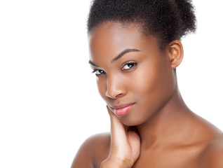 Black beauty with perfect skin