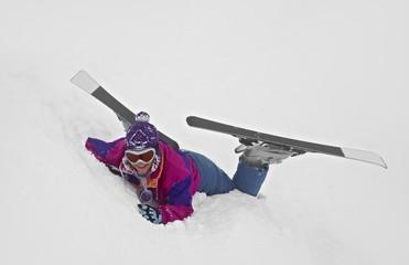 Skier Fallen