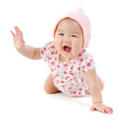 Happy Asian baby girl