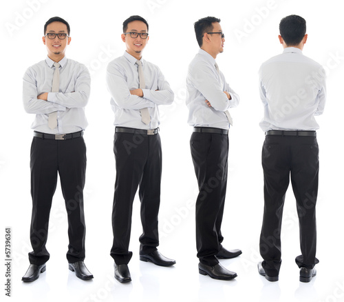 Asian male in different angle