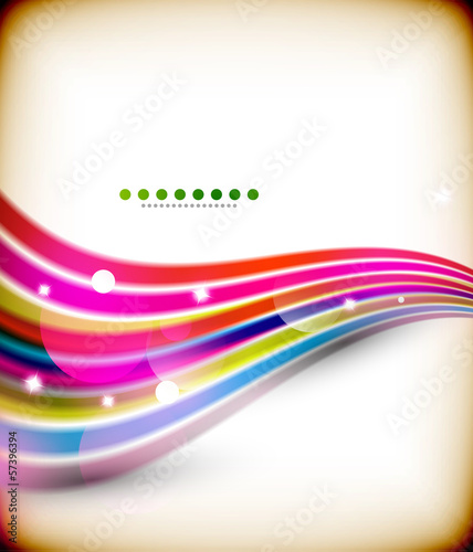 Blue colorful wave lines with lights technology background