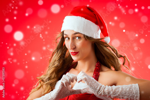 Santa Claus woman being seductive